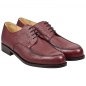 Preview: Handmacher Derby Schuhe aus Scotchgrain Leder rot