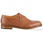 Mobile Preview: Herren Flechtschuhe cognac