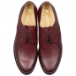 Preview: Rote Herrenschuhe aus Scotchgrain Leder