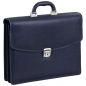 Preview: Handmacher bag made of blue scotch grain leather