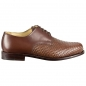 Preview: Woven leather shoes wood nailed