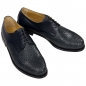 Preview: Handwoven leather shoes for men navy blue