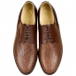 Preview: Woven leather shoes calfskin brown