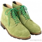 Preview: green suede boots by Handmacher