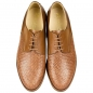 Preview: Woven leather shoes in cognac color