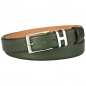 Preview: green leather belts by Handmacher