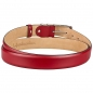 Preview: red leather belt by Handmacher Austria