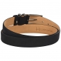 Preview: black nubuck leather belt by Handmacher