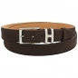 Preview: mocha brown nubuck leather belt