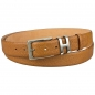 Preview: cognac leather belt by Handmacher