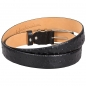 Preview: Ostrich leather belt by Handmacher