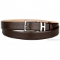 Preview: Handmacher boxcalf belt mocha brown
