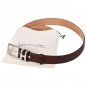 Preview: Mocha brown leather belt by Handmacher
