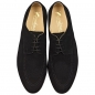 Preview: Black suede leather shoes