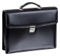 Preview: Handmacher bag small in black high gloss leather