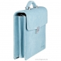 Preview: Handmacher bag in light blue suede