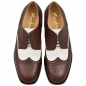 Preview: Brown and white shoes made by Handmacher