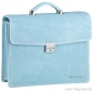 Preview: Light blue leather bag by Handmacher