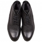Preview: Black leather boots for men
