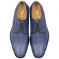 Preview: Handmacher model Trend 80 salmon leather blue