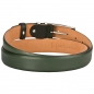 Preview: mens green leather belt