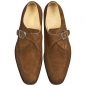 Preview: Handmacher brown suede monk shoes