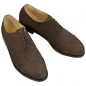 Preview: Dark brown Handmacher cap toe derby shoe