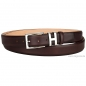 Preview: Pull up leather belt by Handmacher in color oxblood