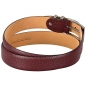 Preview: red leather belt by Handmacher