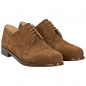 Preview: Handmacher derby shoes suede chestnut