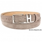 Preview: taupe suede belt by Handmacher