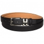 Preview: Black buffalo leather belt by Handmacher
