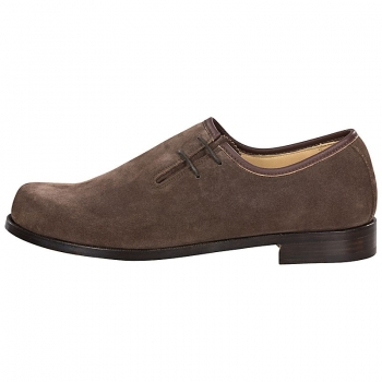 Handmacher Brogues suede dark brown