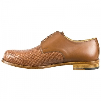 woven leather shoes by Handmacher