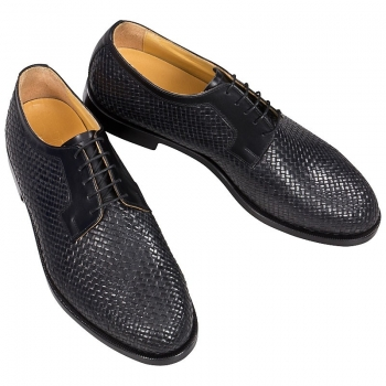 Handmacher woven leather shoes men