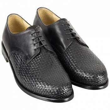 Handmacher model 22 woven leather upper