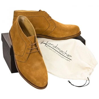 Handmacher model 70 suede cognac