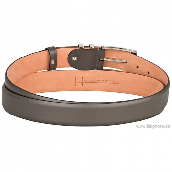 Handmacher belt gray calfskin
