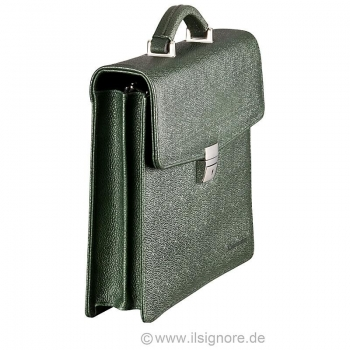 green leather bag from Handmacher