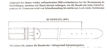 Handmacher belt length chart