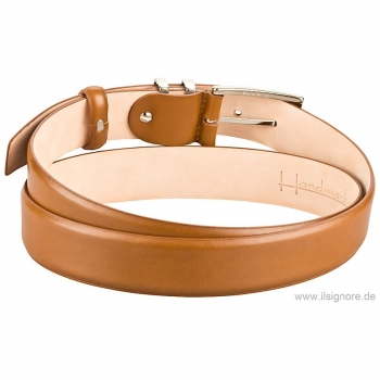 Handmacher belt in cognac box calf