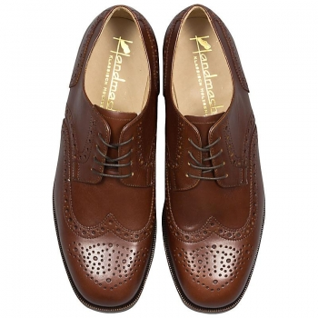 Full Brogue Derby Shoe calfskin nut brown