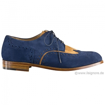 Two tone suede shoes by Handmacher