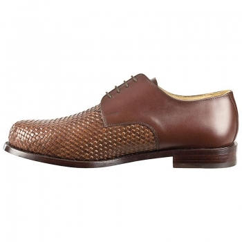 Woven leather shoes handcrafted