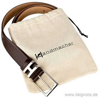Handmacher belt mocha brown