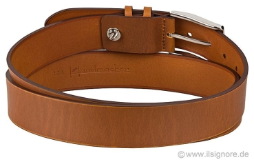 Handmacher belt cognac for jeans