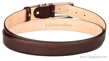Handmacher belt dark brown leather