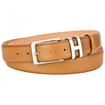 Handmacher belt brown calfskin