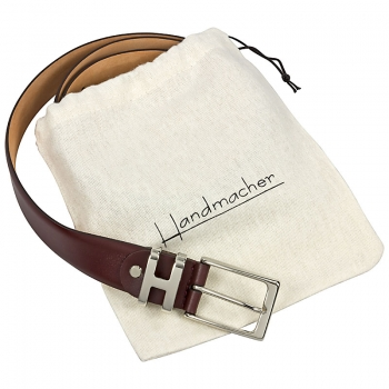 Dark red leather belt