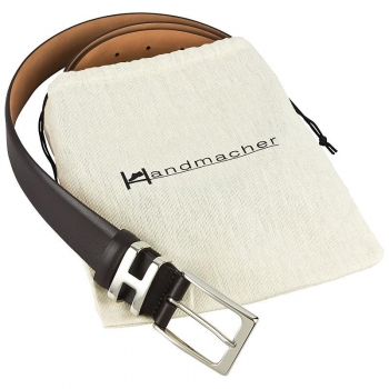 Handmacher belt mocha brown calfskin